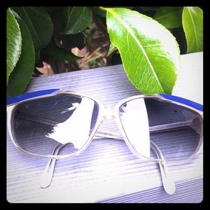 Vintage Italian made sunglasses blue and clear!